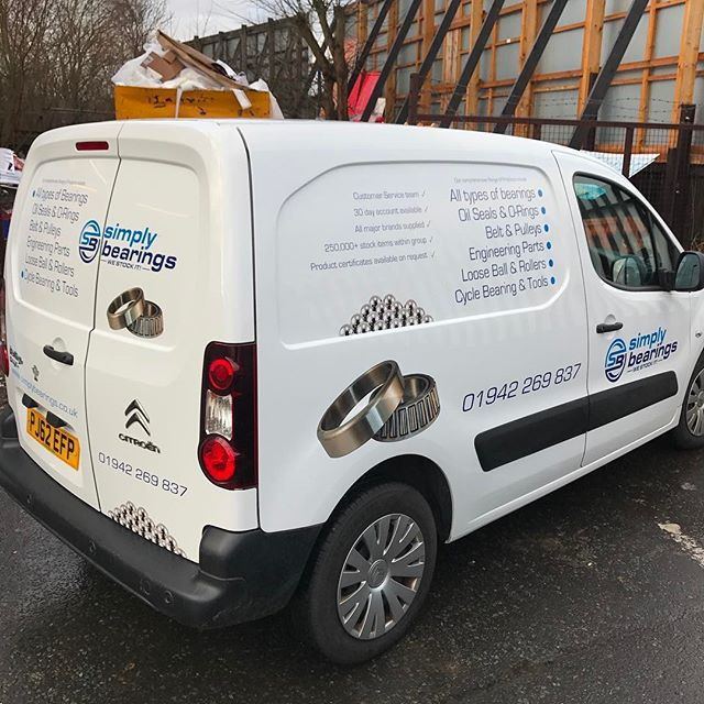 4c9e0e2c0269b6 image 11 - Van graphics from yesterday for  simplybearings  citreon   anlivery  graphics  berlingo